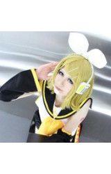 Vocaloid V Kagamine Rin Blond Cosplay Pruik
