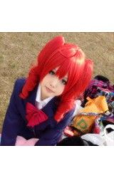 Vocaloid V Teto Rood Double Ponytail Cosplay