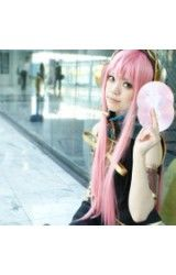 Vocaloid Water Roze Lang Straight Hair Cosplay Pruik